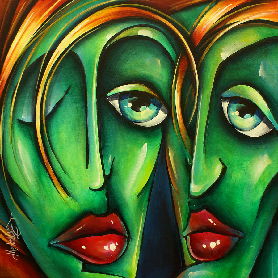 Urban Expression Painting -   Twins  by Michael Lang