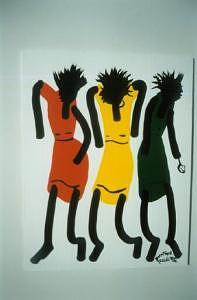 3 Lady Dancings Painting by Duncan Roseme