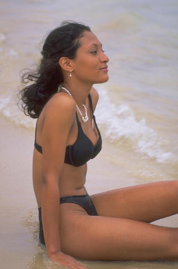 A Girl At The Beach Photograph