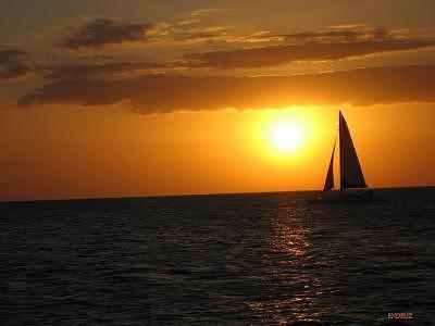 Seascape Photograph -  A  Night Sail by Endora Schmidt