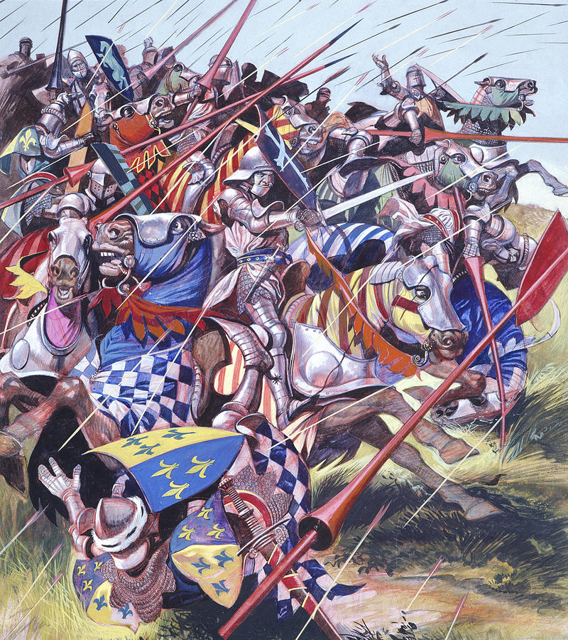 Swords Painting -  Agincourt The Impossible Victory 25 October 1415 by Ron Embleton