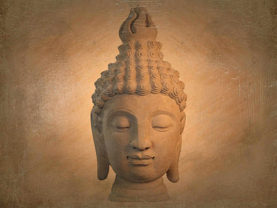 Antique Photograph -  Antique Oil Effect Buddha Sukhothai , by Terrell Kaucher