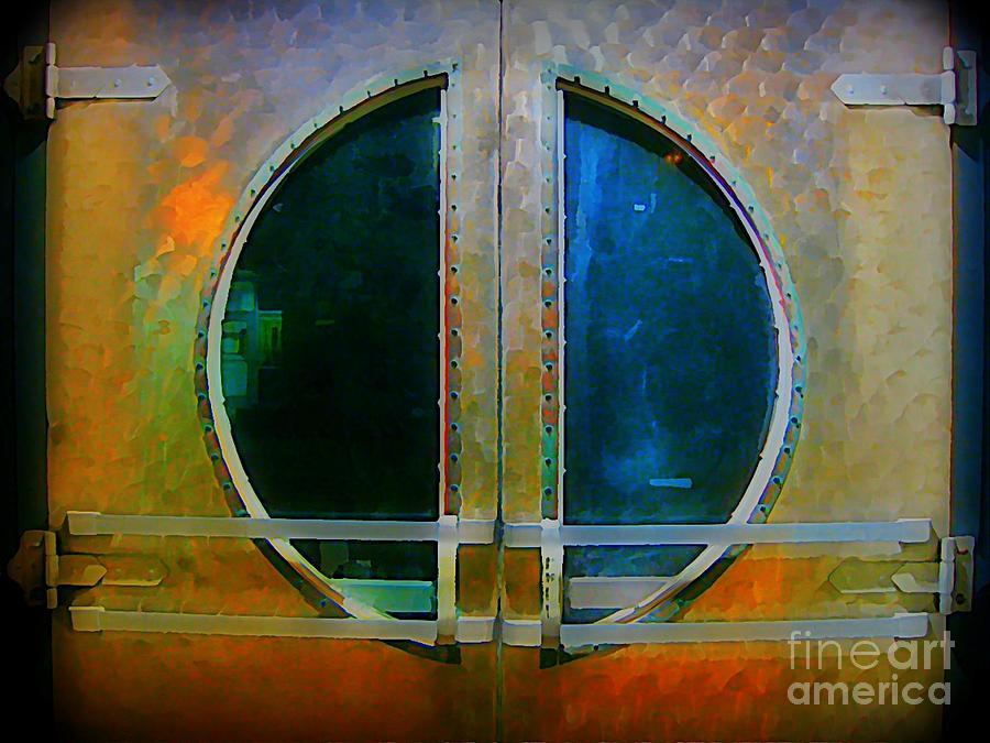 Art Deco Painting -  Art Deco Door In Halifax Nova Scotia by John Malone