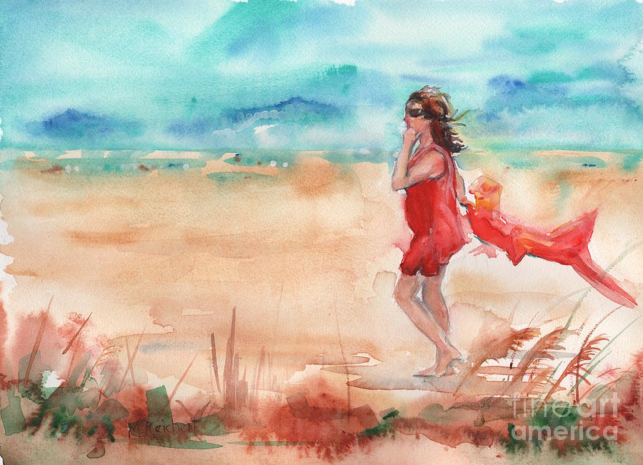 Beach Painting -  Beach Painting In Watercolor by Maria Reichert