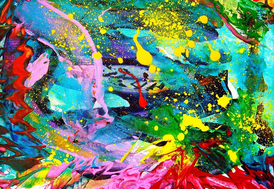 Abstract Painting -  Before  B P  Pollution by Bruce Combs - REACH BEYOND