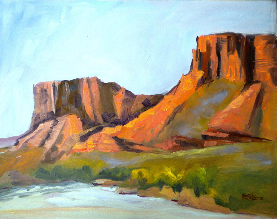 Moab Painting -  Big Bend by Sally Bullers