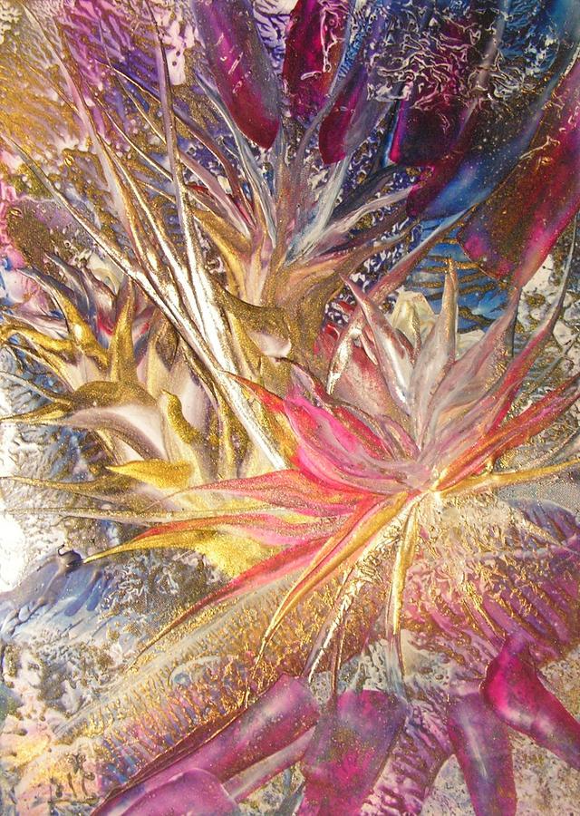 Abstract Painting -  Bllooming by John Vandebrooke