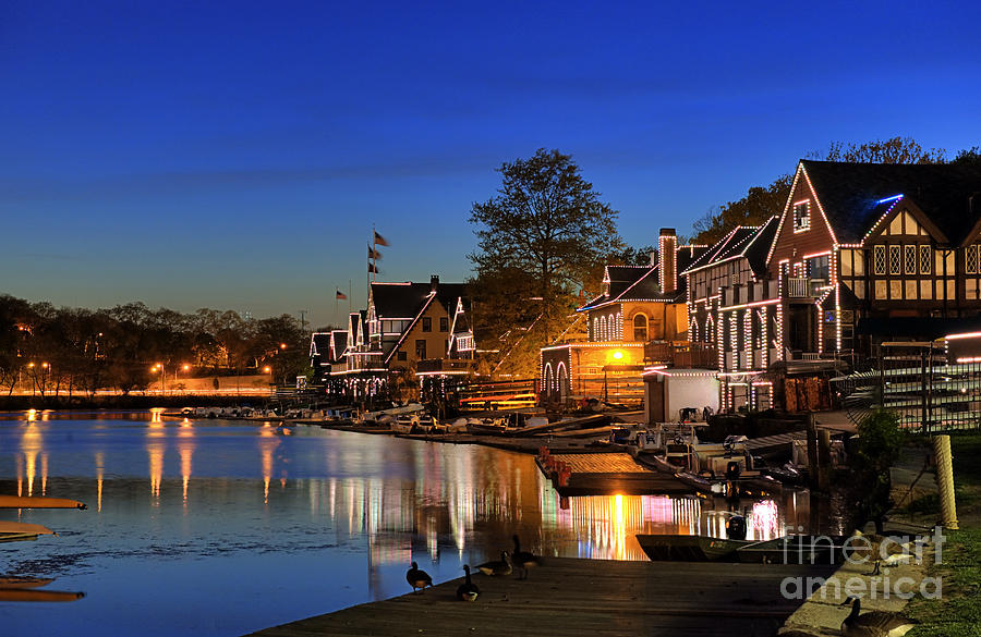 Philadelphia Photograph -  Boathouse Row  by John Greim