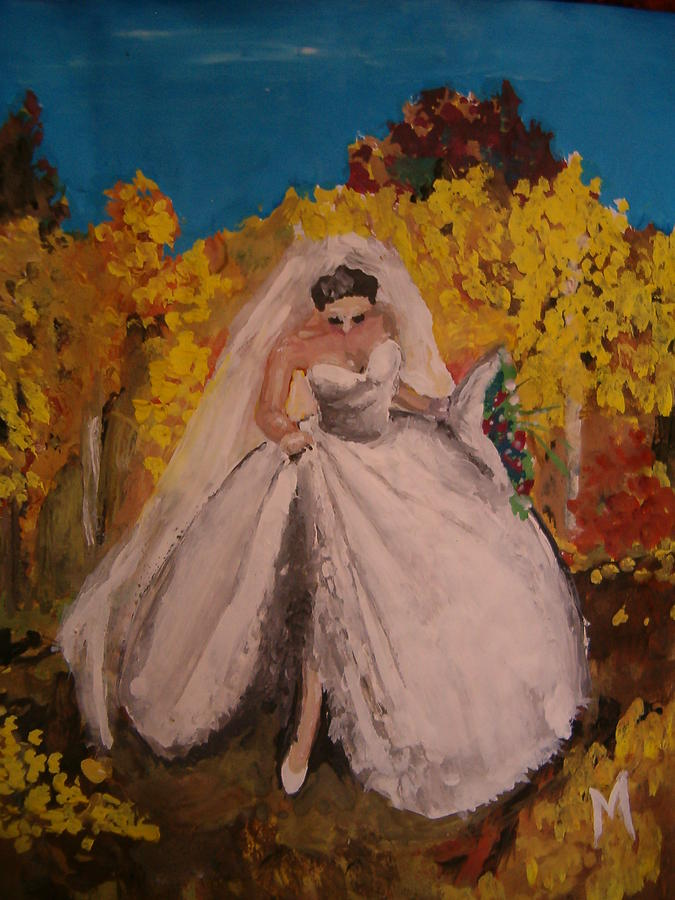 Bride Painting -  Bride Of September by Melinda Molnar