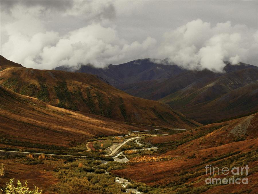 Brooks Range Photograph -   Brooks Range, Dalton Highway And The Trans Alaska Pipeline  by Teresa A and Preston S Cole Photography