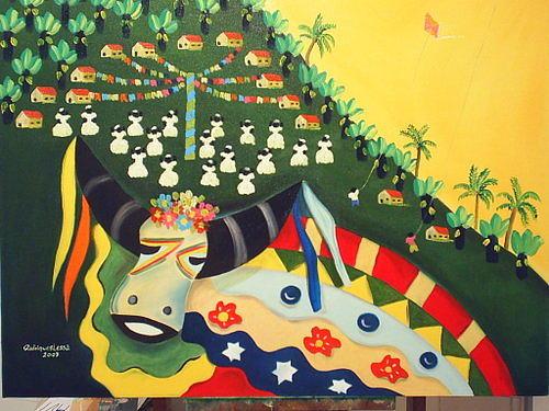 Bumba Meu Boi Painting by Rodrigues Lessa