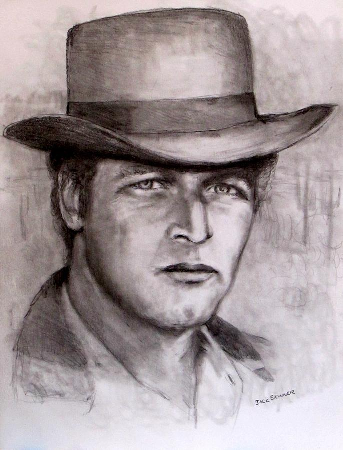 Butch Cassidy Drawing -  Butch Cassidy by Jack Skinner