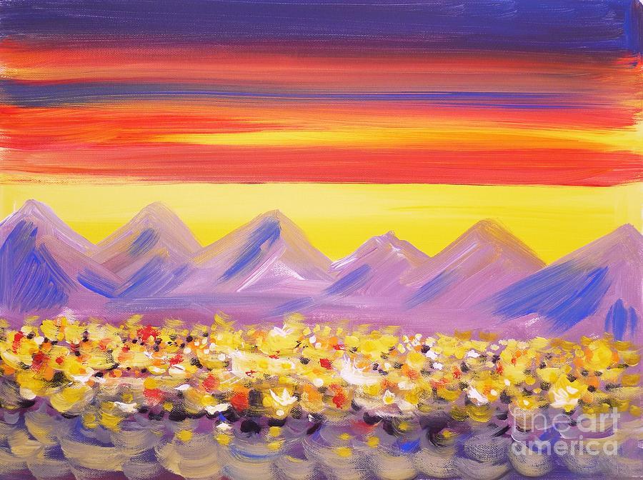 Acrylic Painting -  Calgary Christmas Lights  by Anna  Duyunova