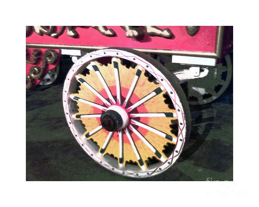 Sarasota Digital Art -  Circus Wagon Wheel by Karen Francis