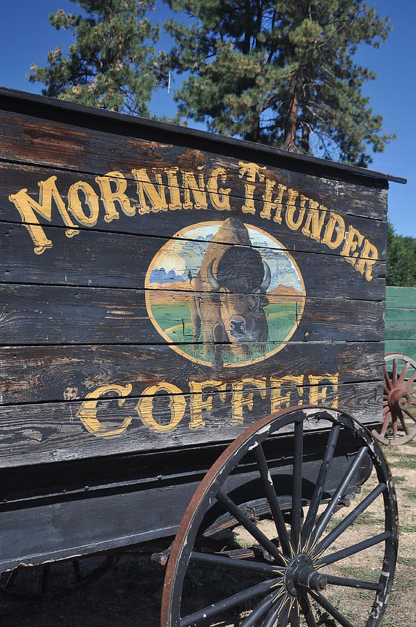 Wagon Trains Photograph -  Coffee Wagon by Brent Easley