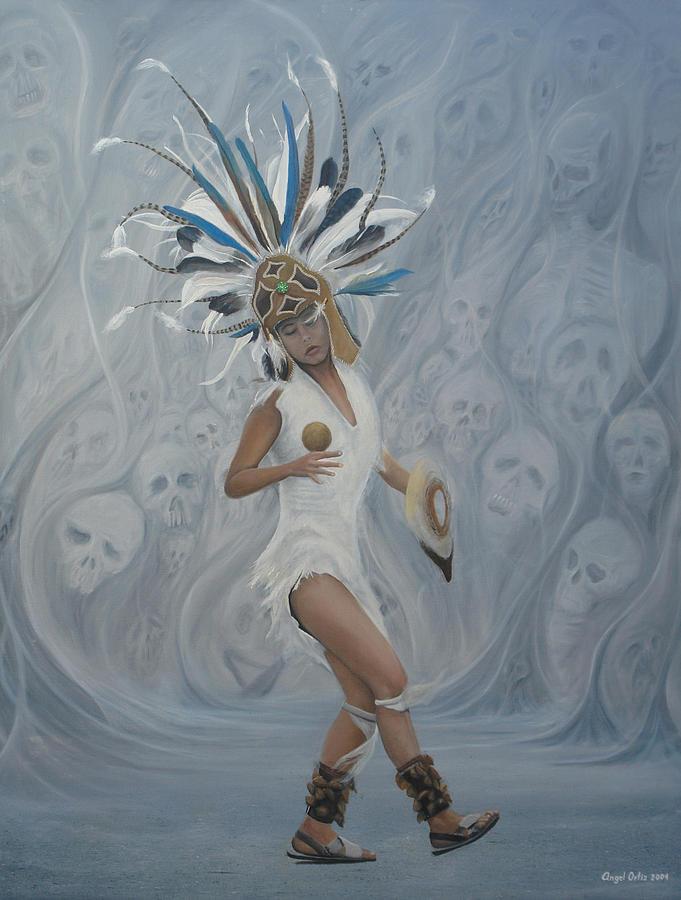 Cultural Panting Painting -  Conchera En Trance by Angel Ortiz
