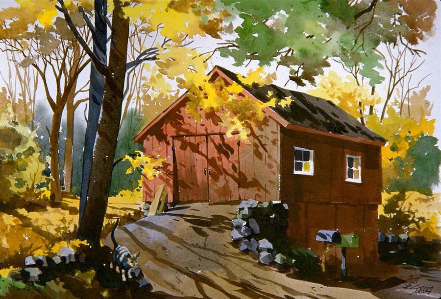 Country Cat    Painting by Art Scholz