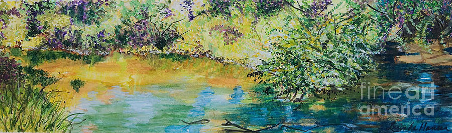 Waterscape Painting -  Creekside by Lucinda  Hansen