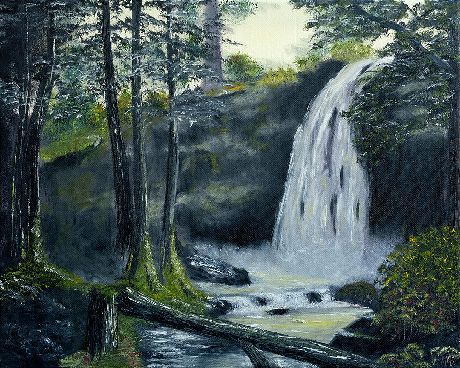 Black Forest Painting -  Crystal Falls inThe Black Forest by Claude Beaulac