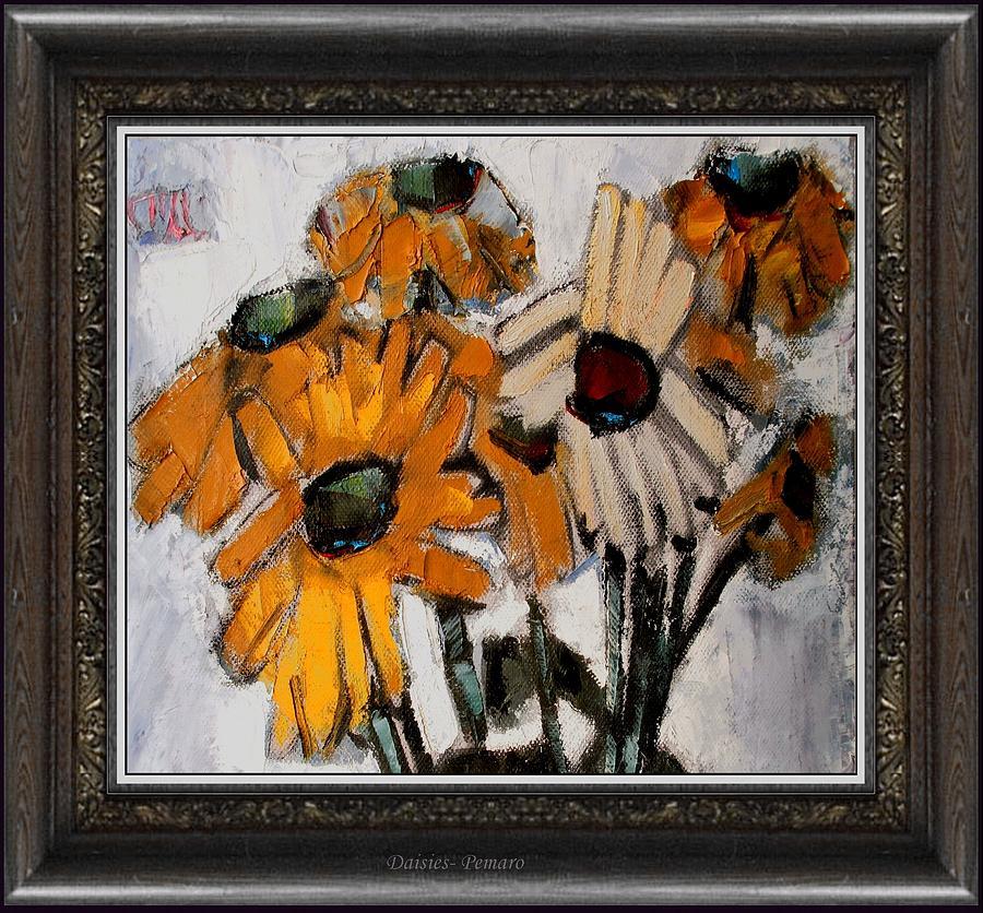 Floral Painting -  Daisies by Pemaro