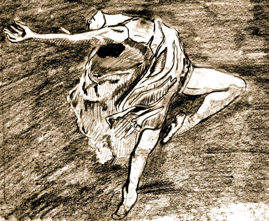 Sketch Drawing -  Dancer by Dan Earle