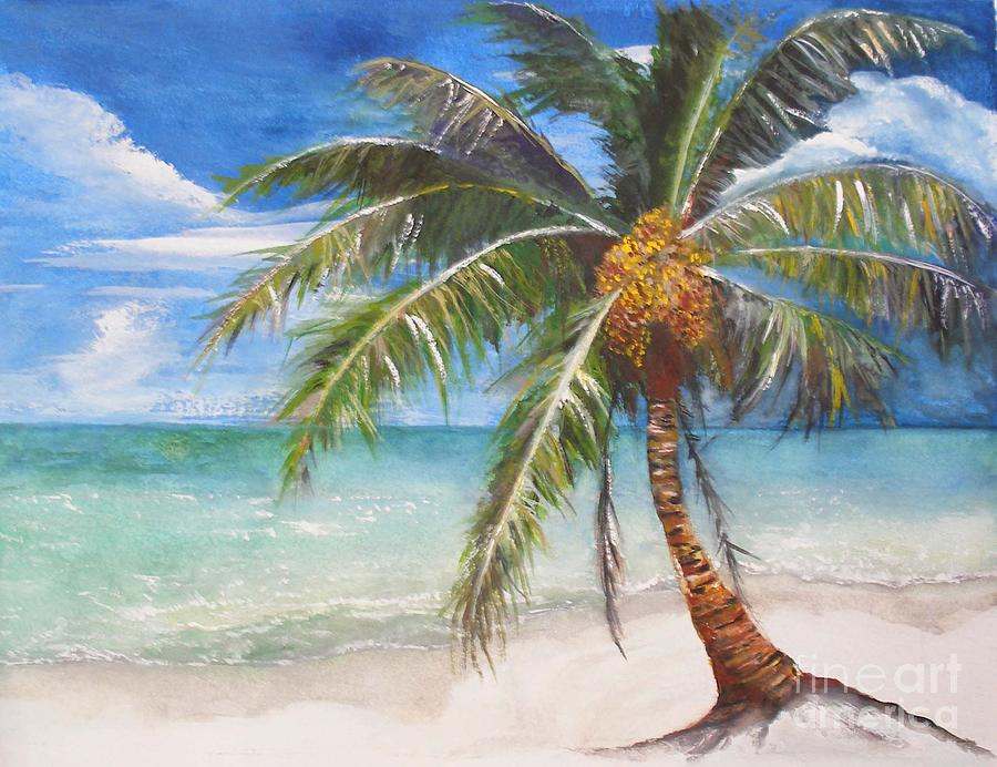 Palm Painting -  Dessert Palm by Sibby S