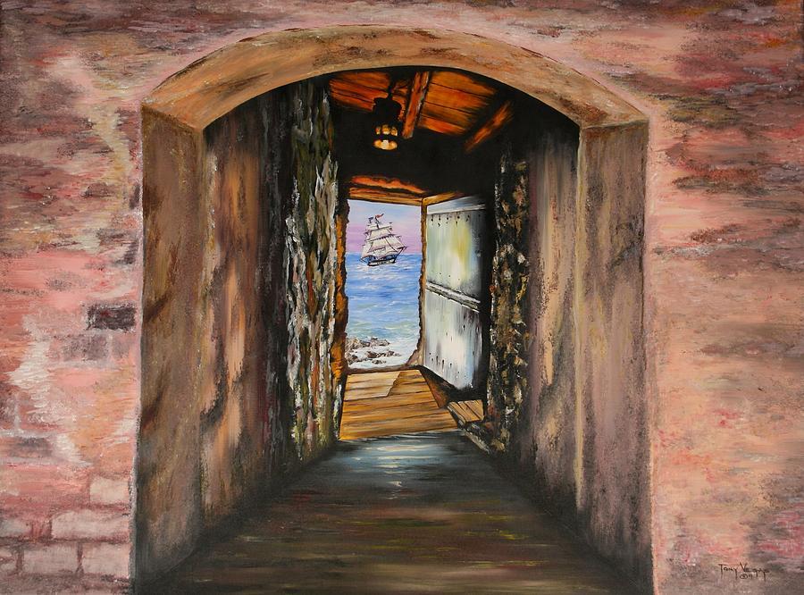 Door Of No Return Painting -  Door Of No Return by Tony Vegas