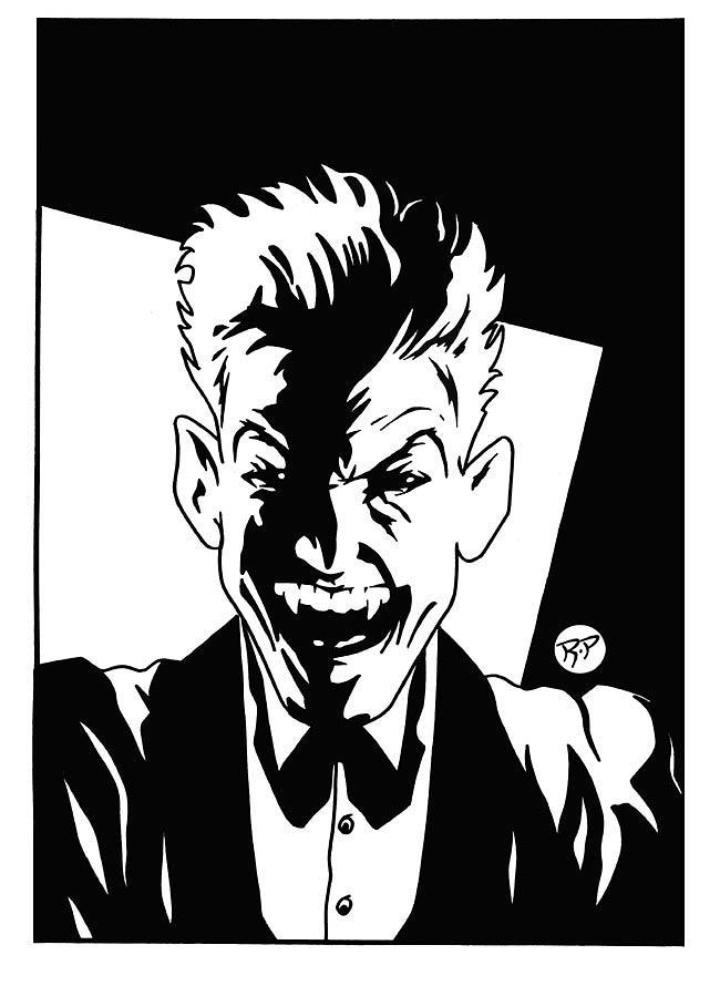 Joker Drawing -  Else Worlds Joker by Roy Pyper