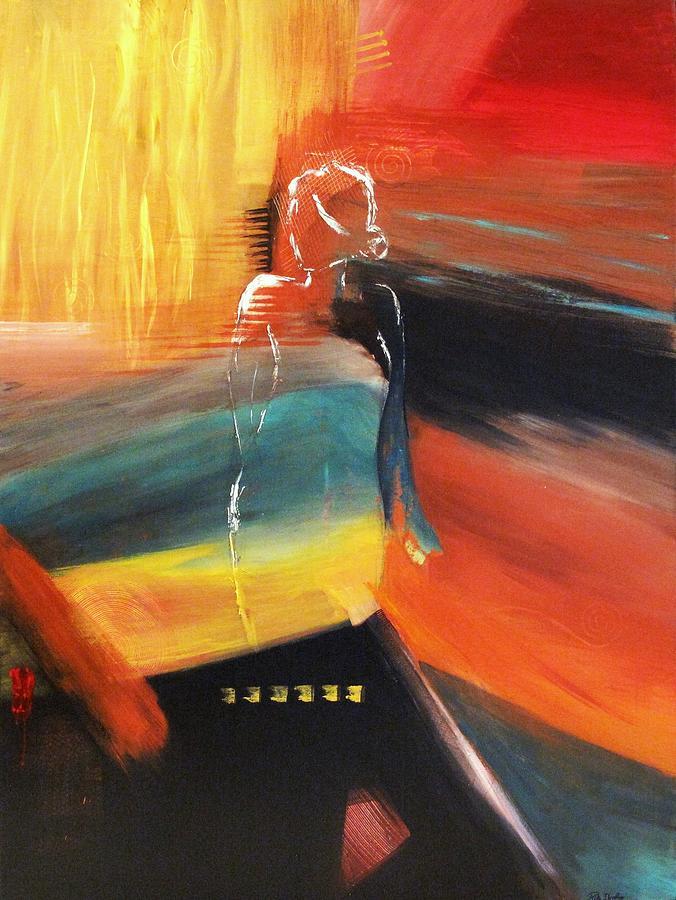 Abstract Painting -  Et Dieu Crea la Femme by Rita  Ibrahim