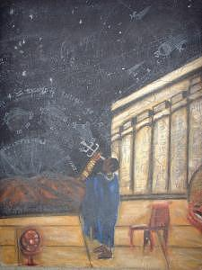 Ancient Astronomer Painting -  Exploration by Richard Carter