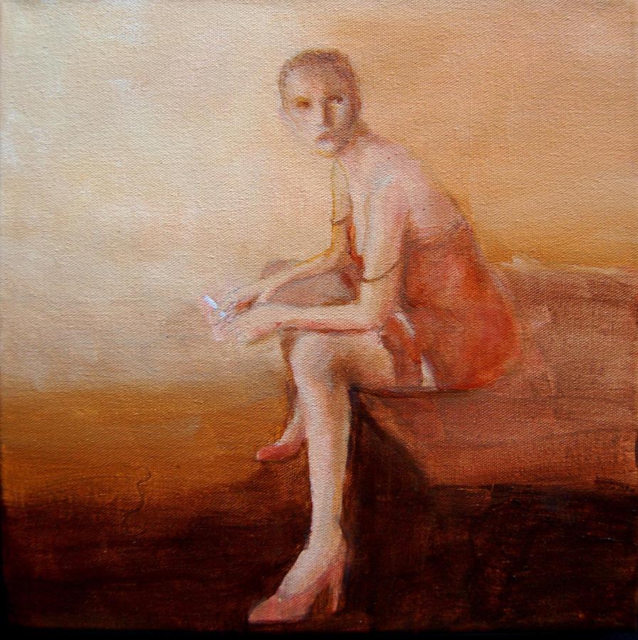Portrait Painting -  Female Feel-male Gaze by Jea DeVoe