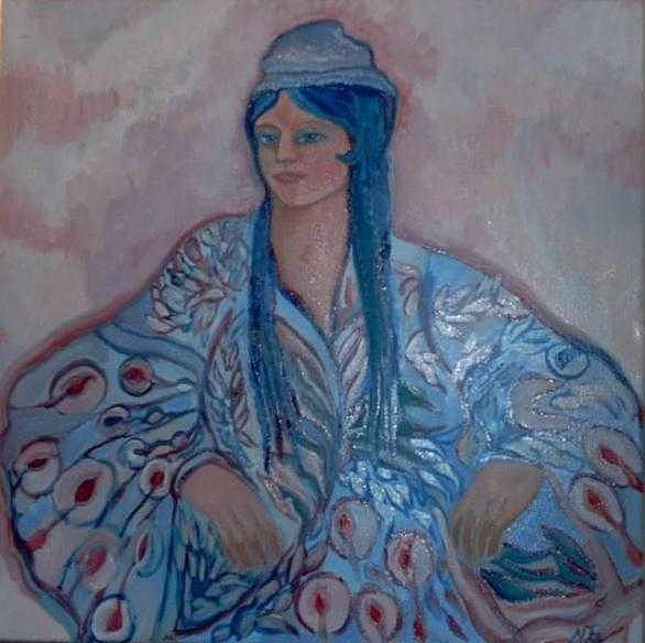 Russian Painting -  Femme Samarkind by Norah Joy Clydesdale