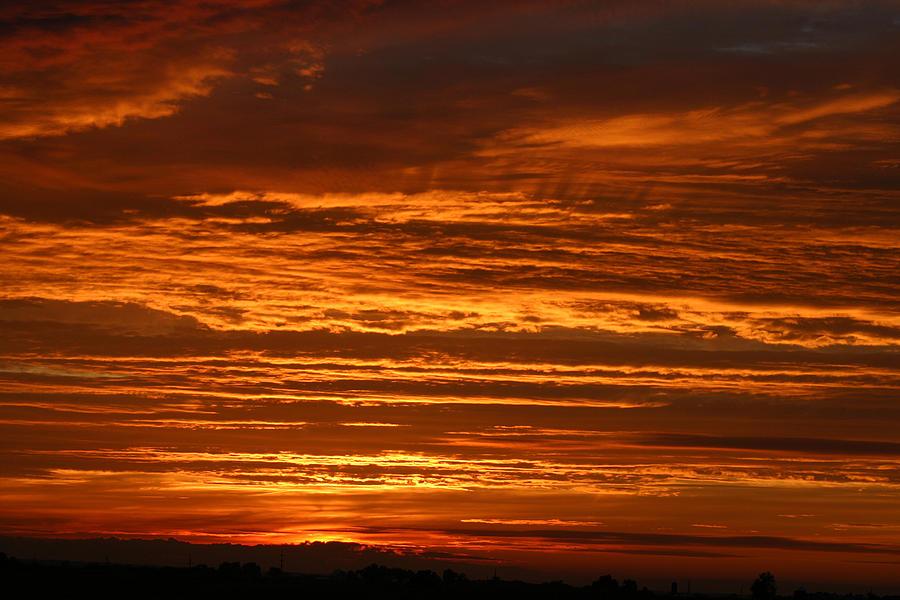 Sunset Photograph -   Firery Sky by Dave Clark