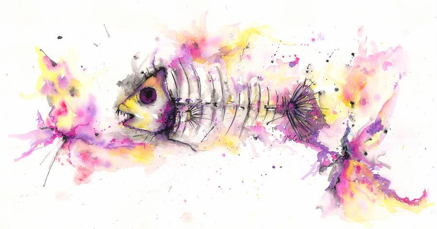 Fish Bones Mixed Media -  Fish Bones by Jacqueline Endlich