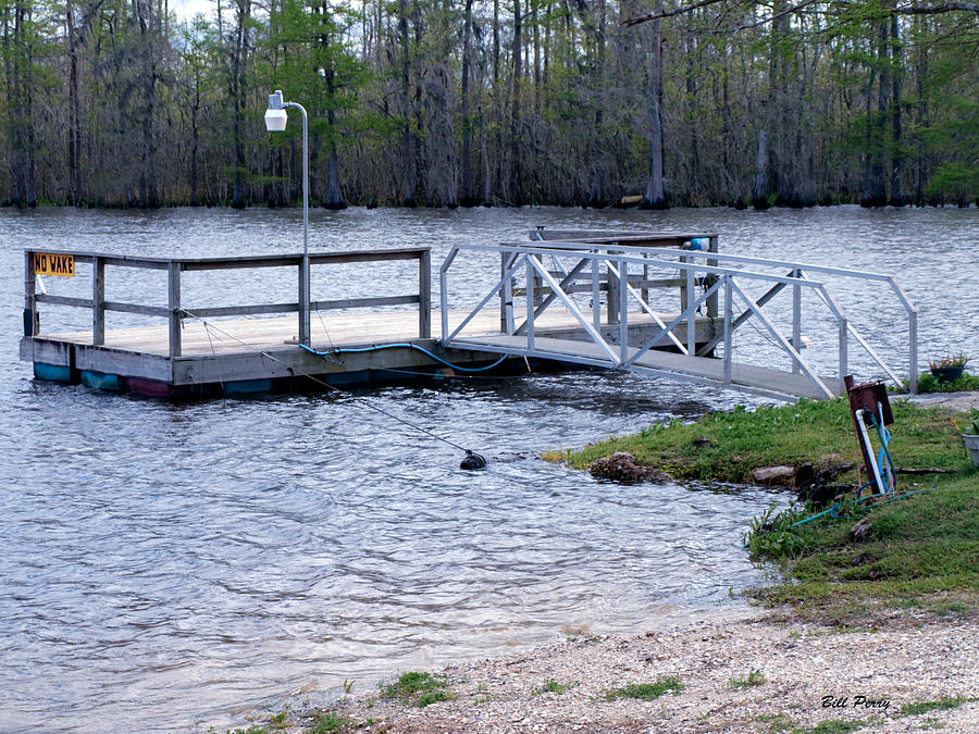 Lake Photograph -  Fishing Boat Dock  by Bill Perry