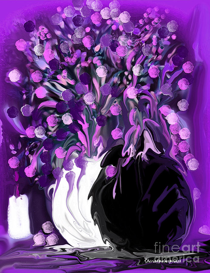 Flower art love purple flowers love pink flowers painting by flowers painting flower art love purple flowers love pink flowers by sherris of palm mightylinksfo