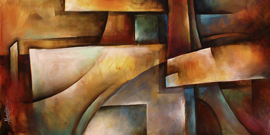 Abstract Painting -   Folding Space  by Michael Lang