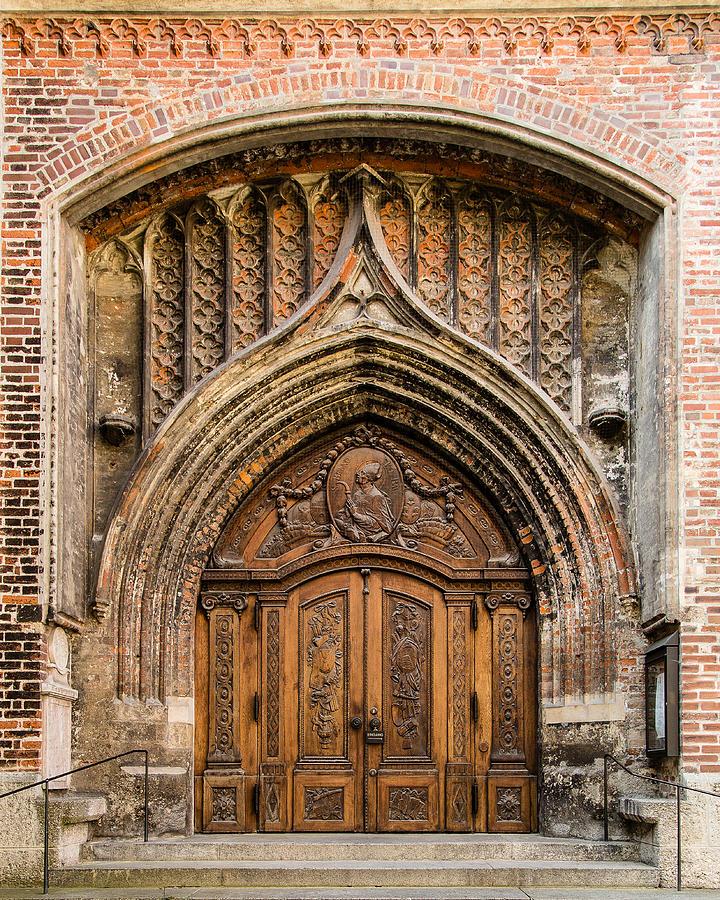 Doors Photograph - Frauenkriche Church Doors Of Munich by Earl Ball & Frauenkriche Church Doors Of Munich Photograph by Earl Ball