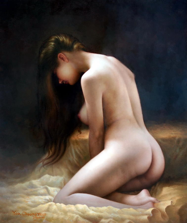 Golden bed and women by Yoo Choong Yeul