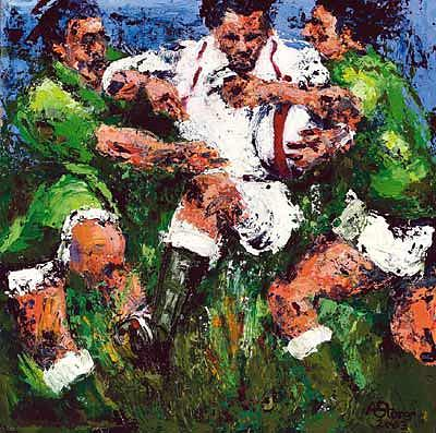 Rugby Prints Painting -  Grand Slam 2003  Rugby Prints   by Rugby Paintings large print