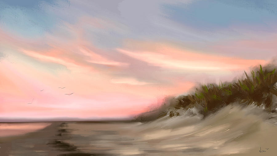 Seascape Painting -  Gulf Sunset  by Greg Neal
