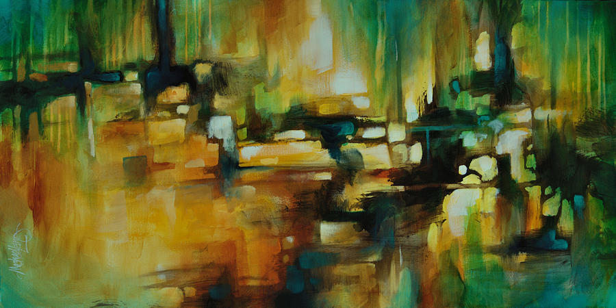 Expressionism Painting -  Highway  by Michael Lang