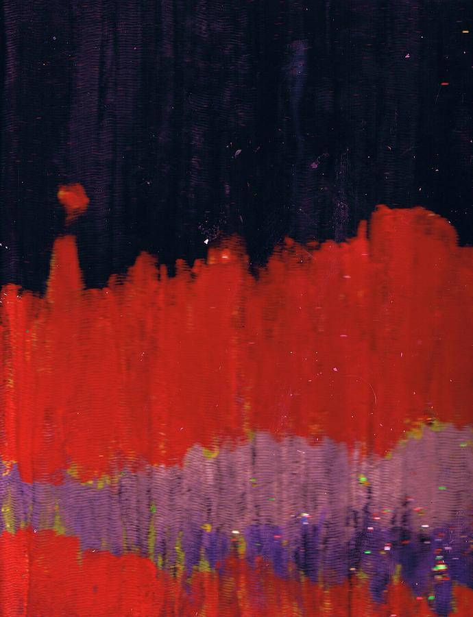 Red Mixed Media -  Horizon Unknown by Anne-Elizabeth Whiteway