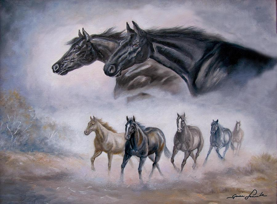 Horse Painting Distant Thunder Painting