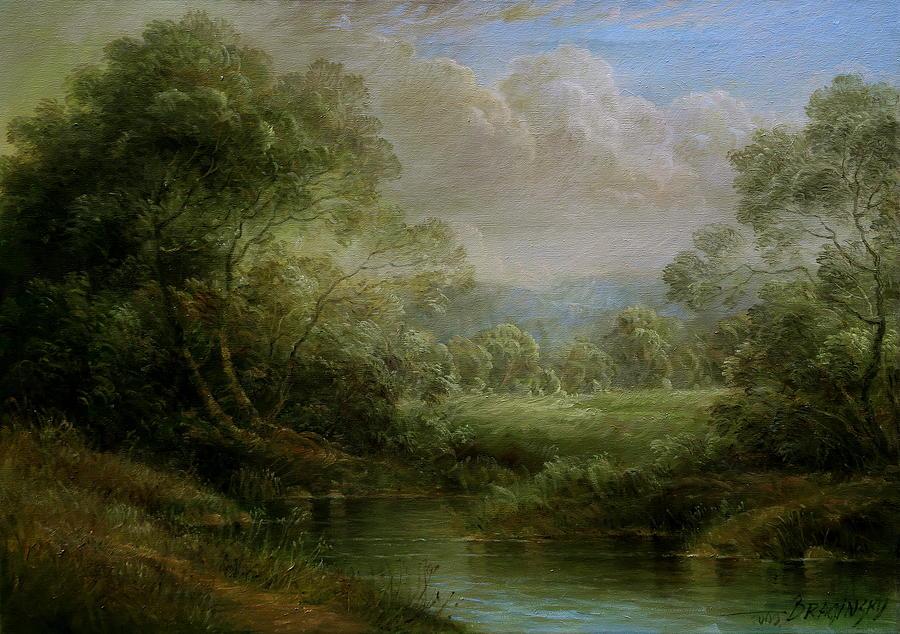 Hungarian Landscape Painting By Arthur Braginsky