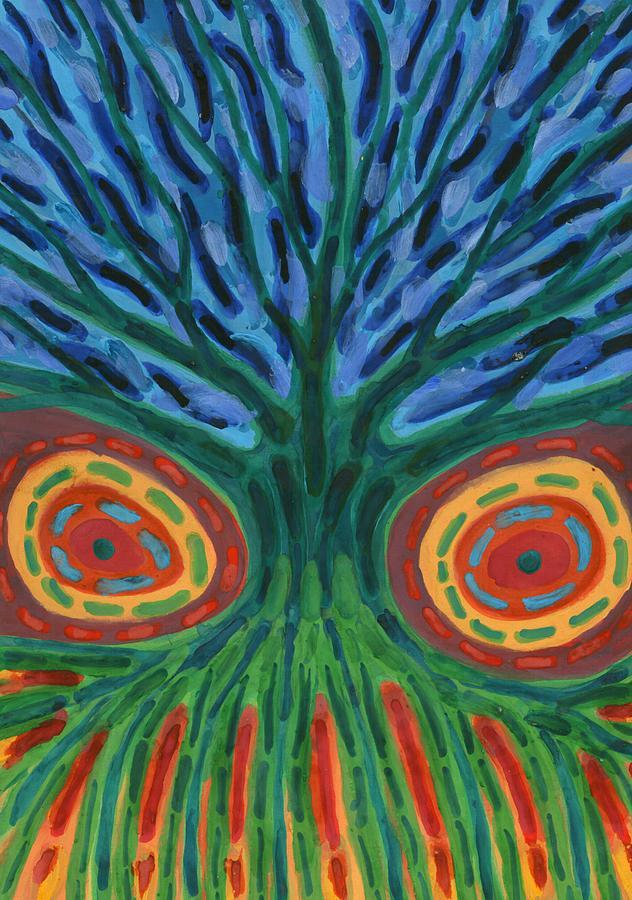 Colour Painting -  I See You by Wojtek Kowalski