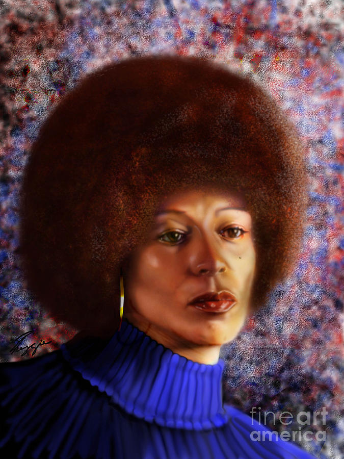 Civil Rights Activist Painting -  Impassable Me - Angela Davis1 by Reggie Duffie