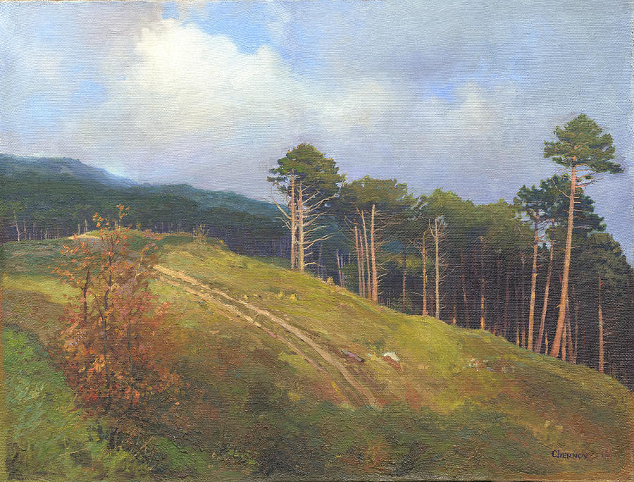 In The Crimean Mountains   Painting by Denis Chernov
