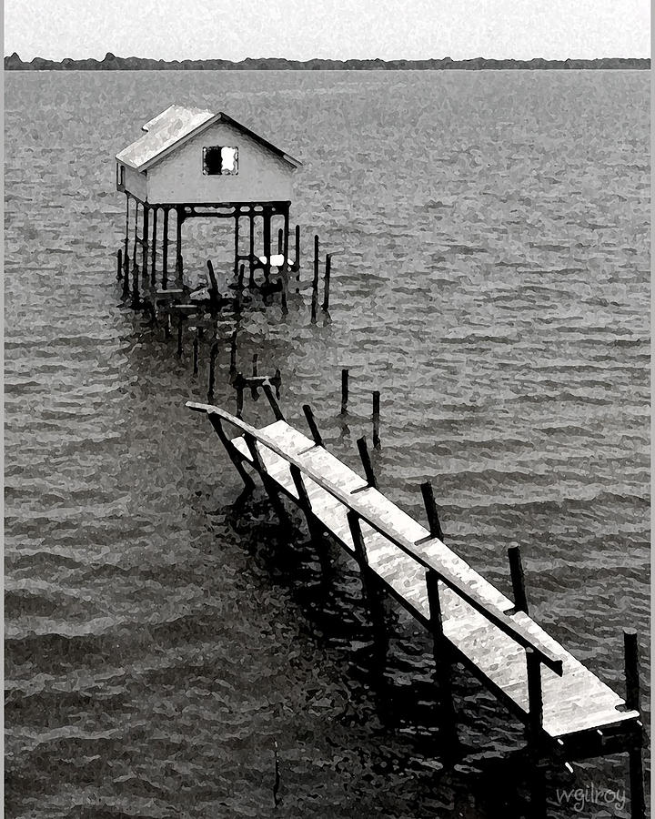 Nature Photograph -  Indian River Pier by W Gilroy