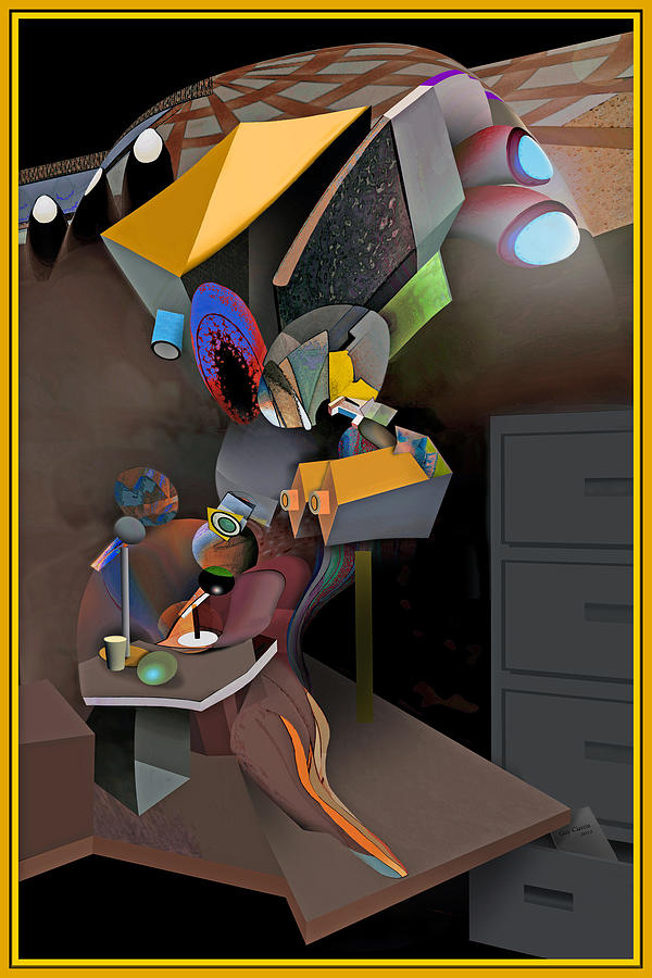 Surrealism Digital Art -  Interview-the Wisdom Of The Stairs by Guy Ciarcia